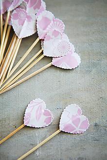 Dekorácie - Candy bar - napichovátka (zápich) - ružové - 9738212_