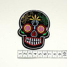 Galantéria - Nažehlovačka Sugar skull - 9739426_