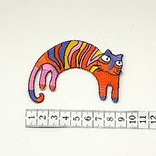 Galantéria - Nažehlovačka Pruhovaná mačka - 9739448_