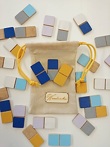 Hračky - domino Drevino colour - 9738413_