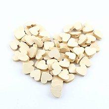 Korálky - drevená korálka srdiečko 20mm - 9737504_