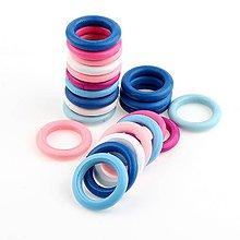 Polotovary - drevený krúžok farebný 34mm (Tm.ružová) - 9739410_