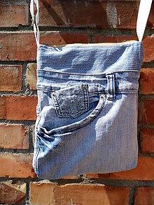 Kabelky - Riflová taška - crossbody s vreckami - 9738853_