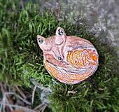 Odznaky/Brošne - keramická brošňa  - Líštička - 9739692_