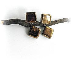 Náušnice - keramické náušnice - dvojdielne - 9739759_
