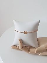 Náramky - Náramok so srdiečkom ružové zlato - 9739331_