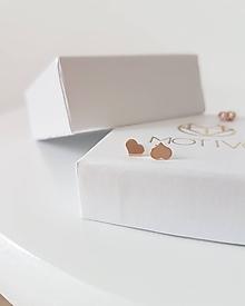 Náušnice - Náušnice srdiečka ružové zlato - 9739293_