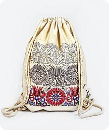 Batohy - Bavlnený vak Tri obdobia kvetu - 9739454_