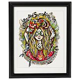 - Lady Flowerina - print - 9739289_