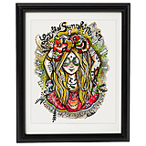 Kresby - Lady Flowerina - print - 9739289_