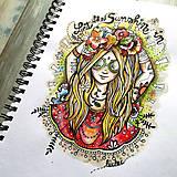 Lady Flowerina - print