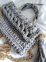 háčkovaná kabelka LUXURY GREY