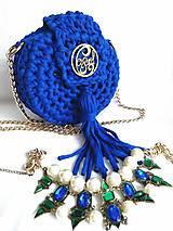 háčkovaná kabelka ROYAL BLUE