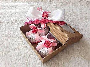Topánočky - Sada s ružičkami... - 9739166_
