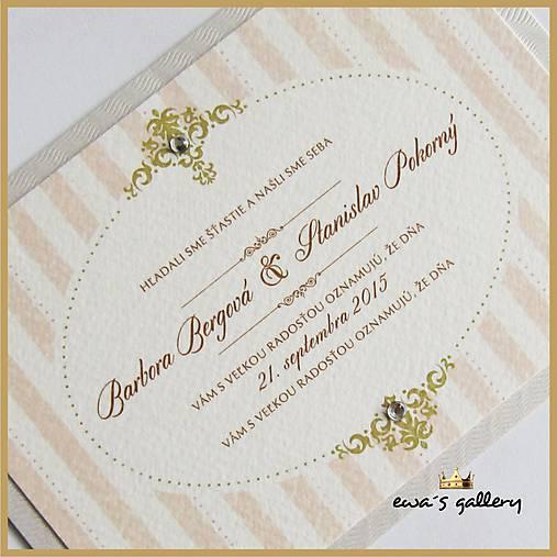 301f9572a531 Svadobné oznámenie ~Vintage retro~   ewasgallery-wedding - SAShE.sk ...