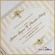 Papiernictvo - Svadobné oznámenie ~Vintage retro~ - 9738448_