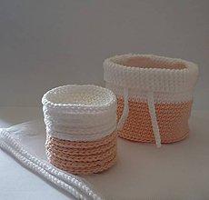 Úžitkový textil - Kozmetické tampóny - sada  (Broskyňová) - 9739403_