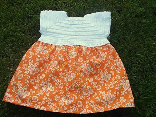 ef71fdd828e9 Letné šaty- bielo-oranžové   Knitlady - SAShE.sk - Handmade Detské ...