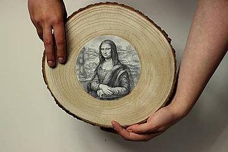 Obrazy - Kresba.Mona Líza, reprodukcia. - 9738214_