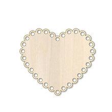 Polotovary - Dierkované srdiečko - drevený výrez - 9737405_