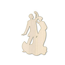 Polotovary - Svadobný tanec - drevený výrez - 9737431_