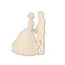 Polotovary - Svadobný tanec - drevený výrez - 9737434_
