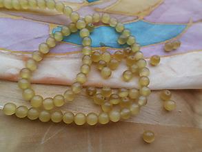 Korálky - Korálky - Mačacie oči 4 mm - 9738349_