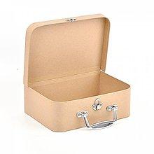 Polotovary - Papierový kufrík 25cm - 9739348_