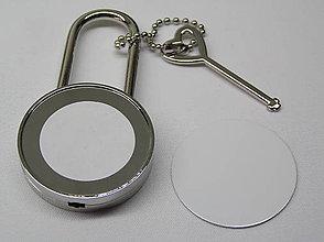 Iné šperky - Zámok s potlačou pre zamilovaných Kruh - 9740637_