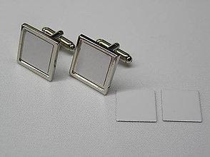 Iné šperky - Manžetové gombíky s potlačou Štvorec - 9741010_