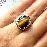 Prstene - Vintage Tiger Eye Ring / Vintage prsteň s tigrím okom /0127 - 9742567_