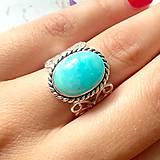 Prstene - Vintage Amazonite Ring / Vintage prsteň s amazonitom /0126 - 9742852_