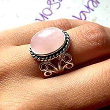 Prstene - Vintage Rose Quartz Ring / Vintage prsteň s ruženínom /0128 - 9741725_