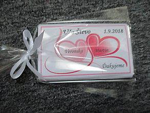 Darčeky pre svadobčanov - Svadobné čokoládky v ružovom - 9742352_