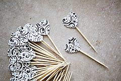 Dekorácie - Candy bar - napichovátka (zápich) - ornament - 9741876_