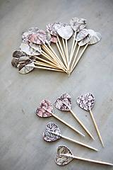 Dekorácie - Candy bar - napichovátka (zápich) - kvety - 9741903_