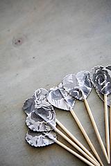 Dekorácie - Candy bar - napichovátka (zápich) - kvety - 9741949_
