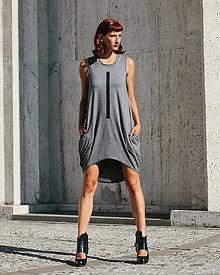 Šaty - FNDLK úpletové šaty 304 BLo - 9740946_