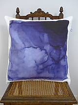 Úžitkový textil - INDIGO akvarelová obliečka - Pod morom - 9740881_