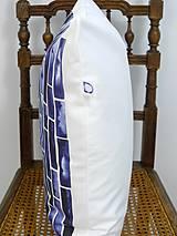 Úžitkový textil - INDIGO akvarelová obliečka - Pásy - 9740936_
