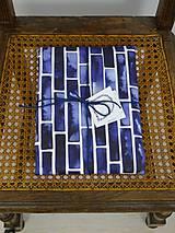 Úžitkový textil - INDIGO akvarelová obliečka - Pásy - 9740937_