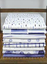 Úžitkový textil - INDIGO akvarelová obliečka - Pásy - 9740938_
