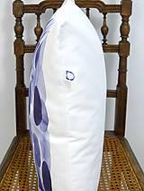 Úžitkový textil - INDIGO akvarelová obliečka - Perie - 9740967_