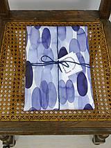 Úžitkový textil - INDIGO akvarelová obliečka - Perie - 9740968_