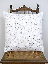Úžitkový textil - INDIGO akvarelová obliečka - Dážď - 9741092_