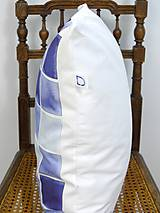 Úžitkový textil - INDIGO akvarelová obliečka - Štvorce - 9741118_