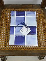 Úžitkový textil - INDIGO akvarelová obliečka - Štvorce - 9741119_