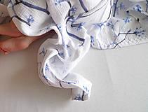 Textil - FLORAL prikrývka - Kvitnúce halúzky - 9741520_