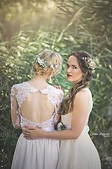 Set svadobný hrebienok a 4 sponky (blondínka)