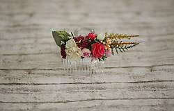 Ozdoby do vlasov - Kvetinový hrebienok do vlasov - 9741889_